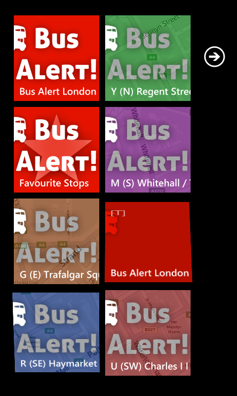 Bus Alert London - Tiles