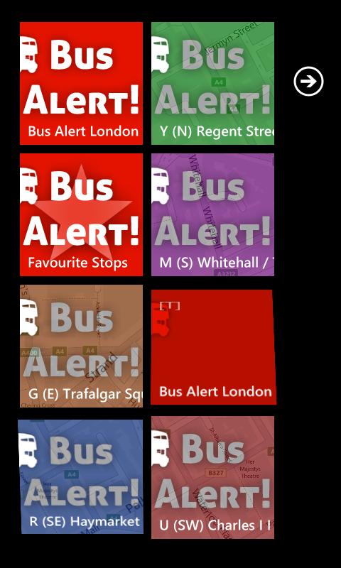 Bus Alert London - Tiles